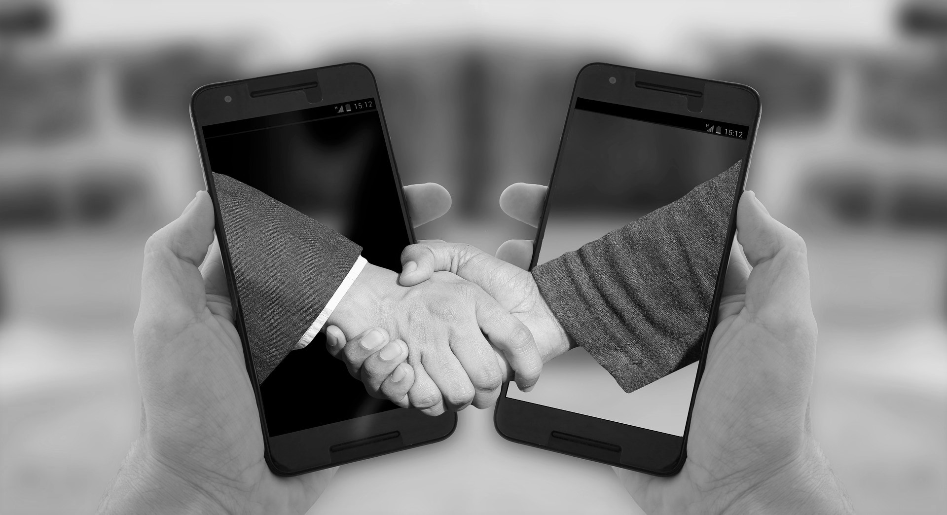 Shaking Hands through mobile phones